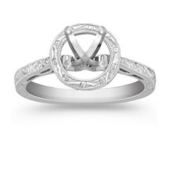 Halo Solitaire White Gold Engagement Ring