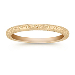 14k Yellow Gold Wedding Band