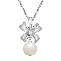 9mm Cultured Freshwater Pearl Pendant in Sterling Silver