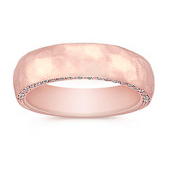 Diamond Rose Gold Wedding Band for Him
