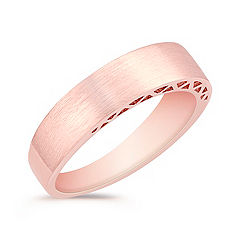 14k Rose Gold Wedding Band for Him (5.5mm)