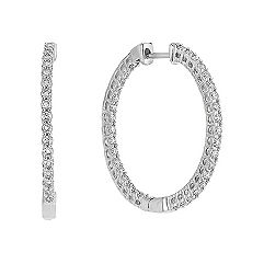 Round Diamond Hoop Earrings