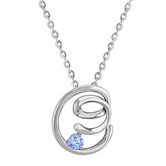 Ice Blue Sapphire and Sterling Silver Pendant (18)