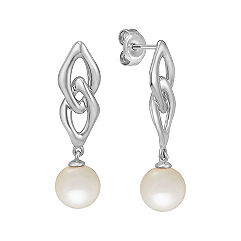 7mm Cultured Freshwater Pearl Earrings in Sterling Silver