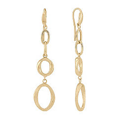 Yellow Gold Fashion Earrings