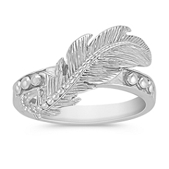 Feather Sterling Silver Ring