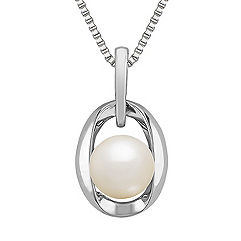 8mm Cultured Freshwater Pearl and Sterling Silver Pendant (18)