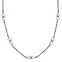 6mm Pink Cultured Freshwater Pearl and Sterling Silver Necklace (30)