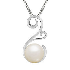 8.5mm Cultured Freshwater Pearl Pendant in Sterling Silver (18 in.)