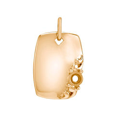 14k Yellow Gold Rectangle Charm