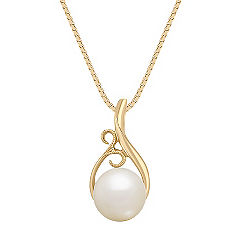 8.5mm Cultured Freshwater Pearl Pendant (18)