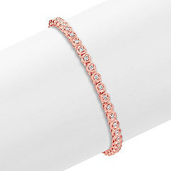 Round Diamond Bracelet in 14k Rose Gold (7)