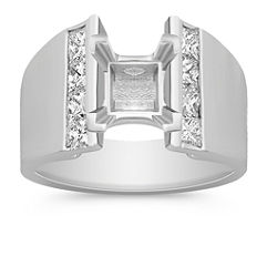 Princess Cut Diamond Engagement Ring with Channel Setting
