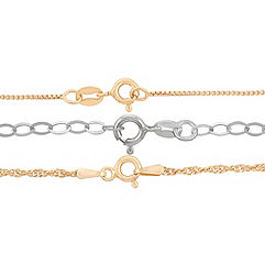 Yellow Sterling Silver & Sterling Silver Three Chain Set (20)