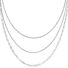 Sterling Silver Three Chain Set (20 in.)