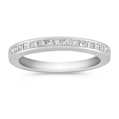 Channel Set Princess Cut Diamond Wedding Band