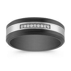 Round Diamond Ring in Titanium