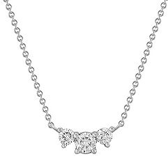 Three-Stone Diamond Necklace (18)