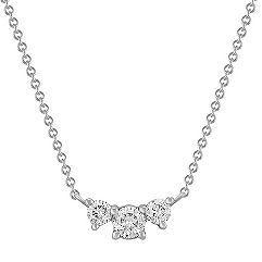 Three-Stone Diamond Necklace (18 in.)