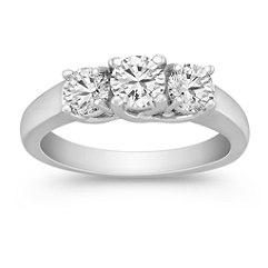 Three-Stone Round Diamond Ring