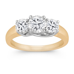 Round Diamond Three-Stone Ring