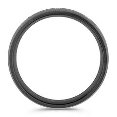Round Diamond Ring in Black Titanium (7mm)