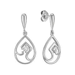 Teardrop Princess Cut Diamond Earrings