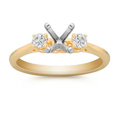 Classic Three-Stone Engagment Ring