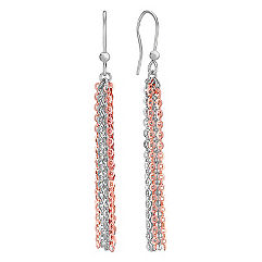 Two-Tone Sterling Silver Earrings