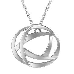 Sterling Silver Circle Pendant (18 in.)