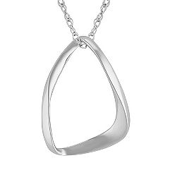 Sterling Silver Geometric Pendant (18 in.)