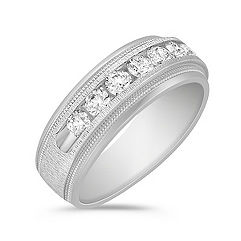 Channel Set Diamond Ring (8mm)