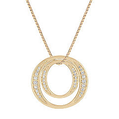 Round Diamond Circle Pendant (18)