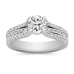 Diamond Engagement Ring with Pave Setting