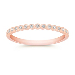 Round Diamond Anniversary Band in 14k Rose Gold