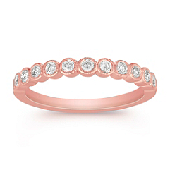 Round Diamond Anniversary Band
