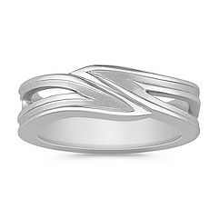 14k White Gold Ring For Him (8mm)