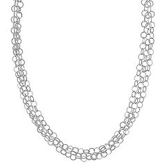 Sterling Silver Circle Necklace (18 in.)