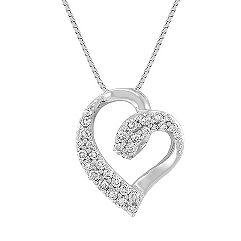 Classic Diamond Heart Pendant (18)