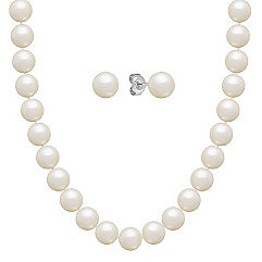 6.5mm Cultured Freshwater Pearl Strand and Earrings Two Piece Set (30)