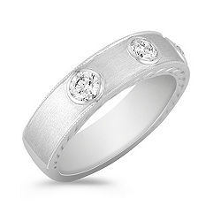 Bezel Set Diamond Ring for Him