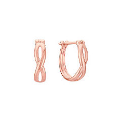 14k Rose Gold Hoops