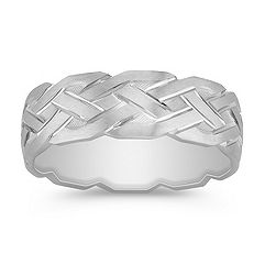 Comfort Fit 14k White Gold Ring (7mm)