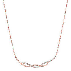 Round Diamond Necklace in 14k Rose Gold (18 in.)