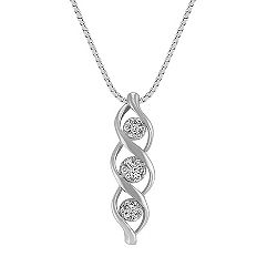 Twist Cluster Diamond Pendant (18 in.)