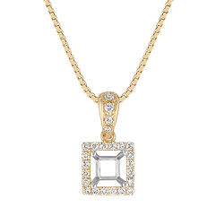 Round Diamond Square Pendant (18 in.)