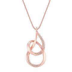 Round Diamond Pendant in 14k Rose Gold (18 in.)