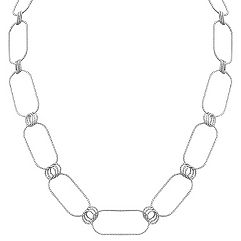 Diamond Cut Sterling Silver Necklace (36 in.)