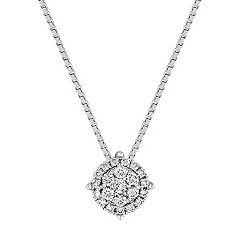 Circle Diamond Cluster Pendant (18)