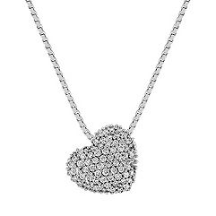 Diamond Cluster Heart Pendant (18 in.)